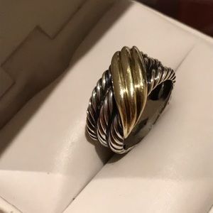 Authentic David Yurman Gold and Silver Ring